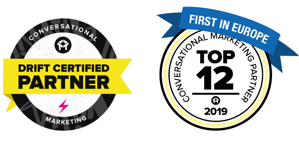 drift certified partner and top 12 conversational marketing influencer first in europe